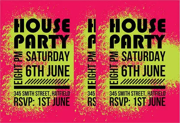 Party Flyer Examples Free Amp Premium Templates