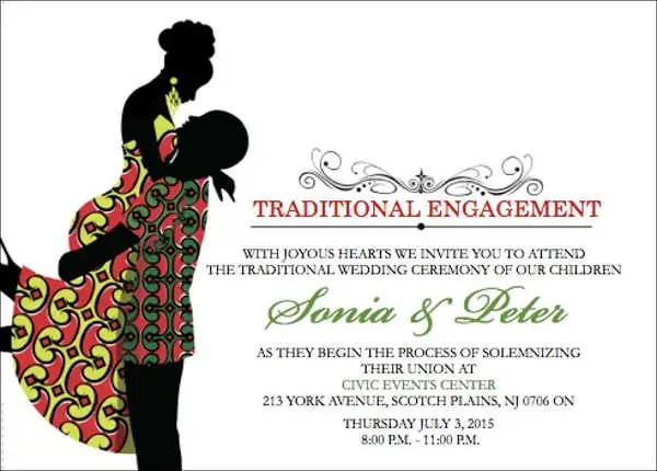 Traditional Enement Invitation Card
