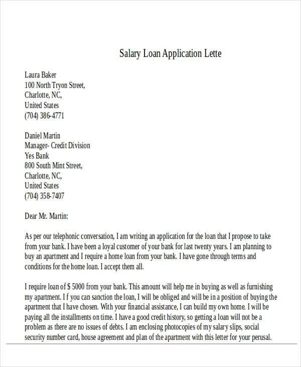 Salary loan request letter template poemdocor 43 formal application letter template free premium templates altavistaventures Images