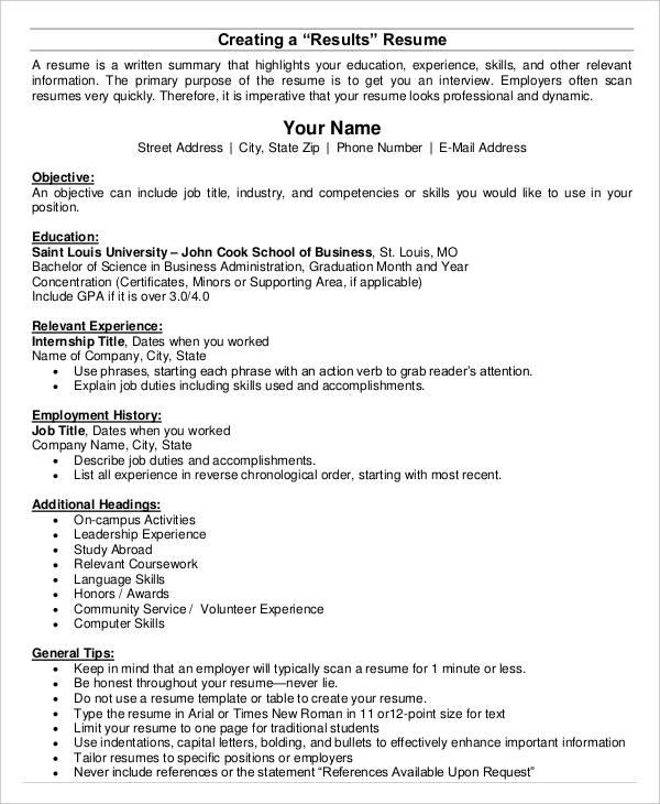 20 Basic Business Resume Templates PDF DOC Free Amp Premium Templates