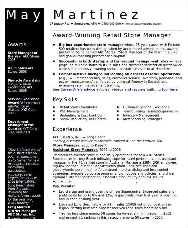 40 Free Manager Resume Templates PDF DOC Free Amp Premium Templates