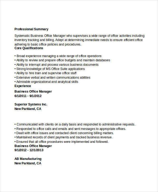 52 Professional Manager Resumes PDF DOC Free Amp Premium Templates