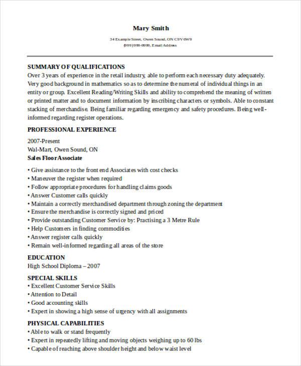 30 Printable Sales Resume Templates PDF DOC Free Amp Premium Templates