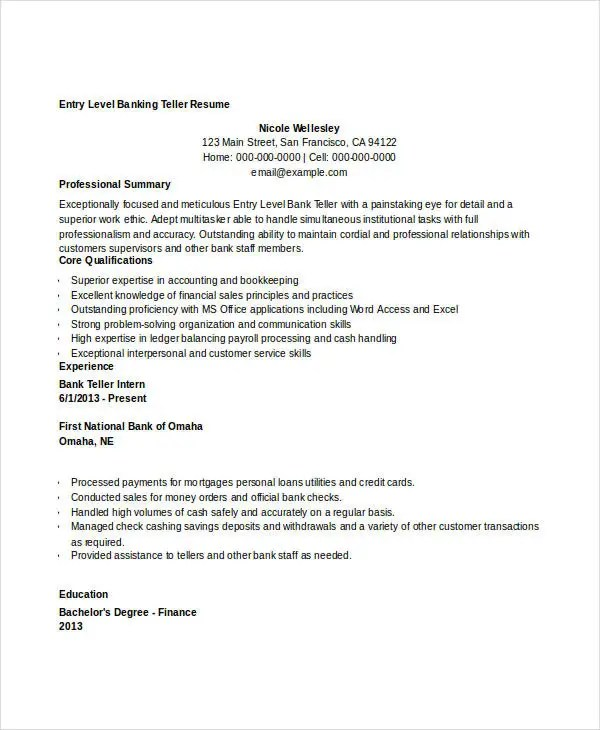 Best Bank Manager Resumes