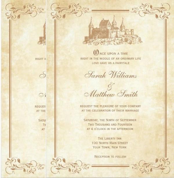 8 Disney Wedding Invitation Template Word Psd Ai