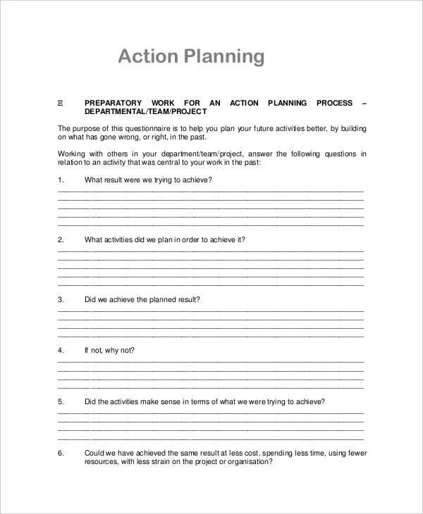 26 Action Plan Free Word PDF Documents Download Free Premium Templates