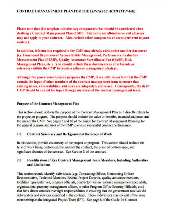 45 Management Plan Templates PDF Word Free Amp Premium Templates