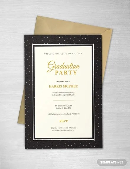 48 Sample Graduation Invitation Designs Templates Psd