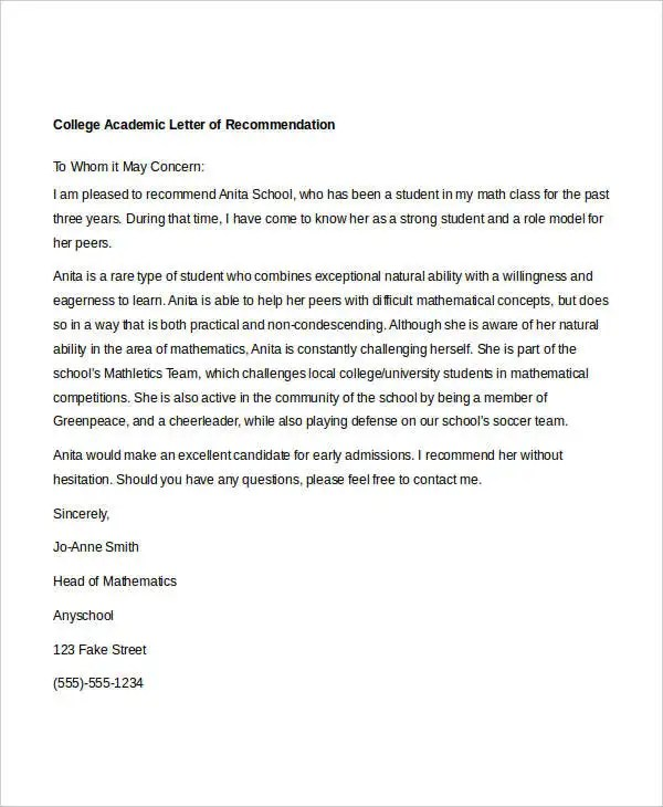 how to fake a letter of recommendation   Hadi.palmex.co