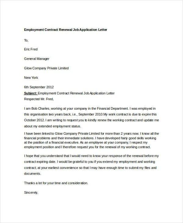 10 Job Application Letter Templates For Employment Pdf Doc Free Premium Templates