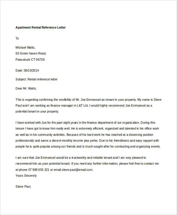 11 Al Reference Letter Templates