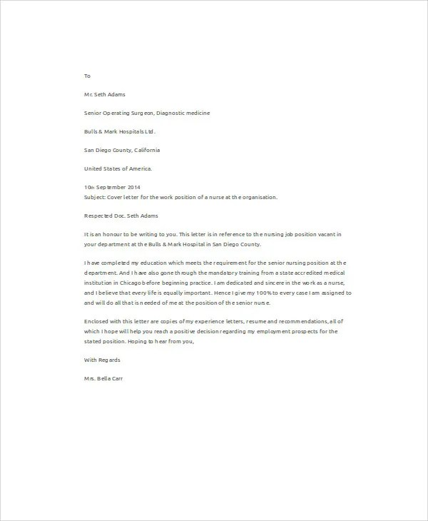 Get That Nursing Job On How To Create An Eye Catching Cover Letter