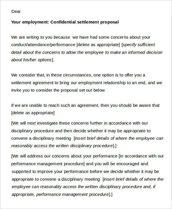 Acas Settlement Agreement Template Letters Dulahotw