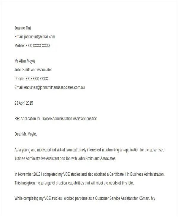 14 Work Application Letters Template Free Word PDF Format Download Free Amp Premium Templates