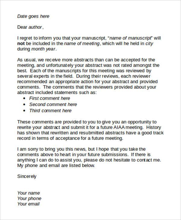 Letter Interest Job