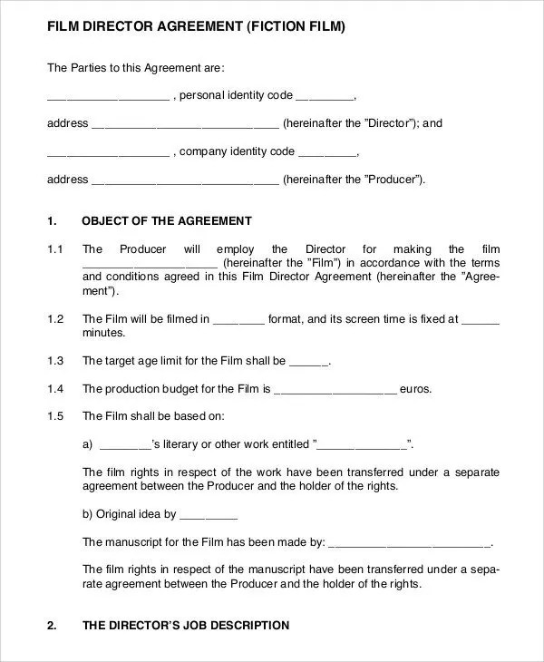 9 Director Agreement Templates Free Sample Example