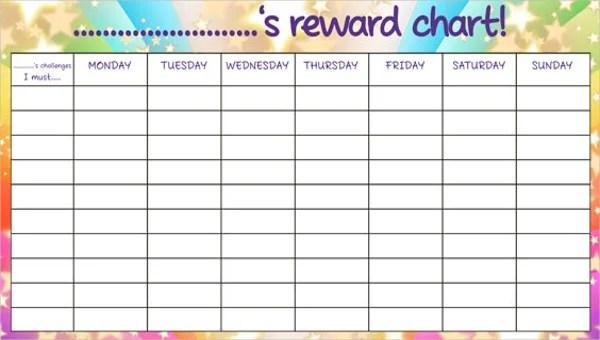 7 Reward Chart Templates Free Sample Example Format