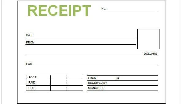 9 Cash Receipt Templates Free Sample Example Format