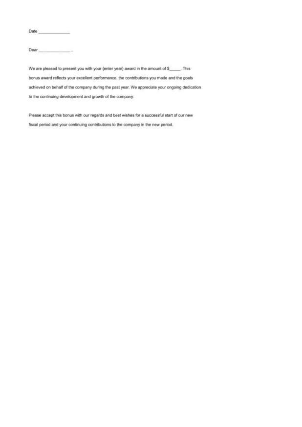 Employee recognition bonus letter sample howtoviews 8 employee recognition certificates free premium templates bonus letter to employee template altavistaventures Gallery