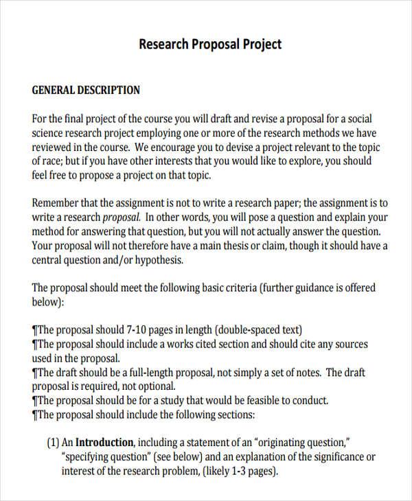 30 Project Proposal Templates Word PDF Free Premium Templates