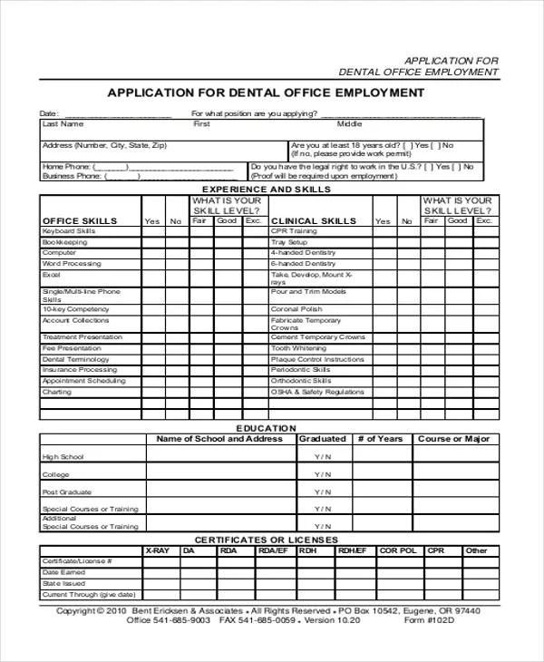 33 Job Application Templates Free Premium Templates