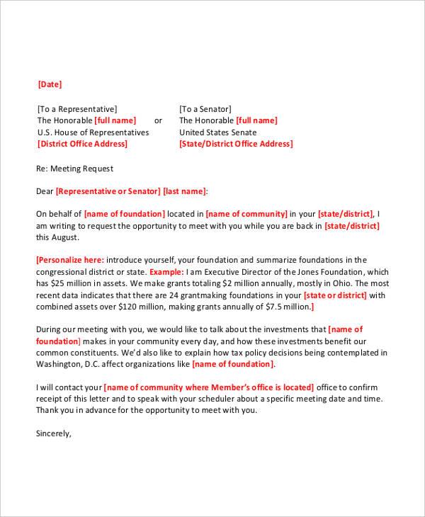 Meeting Follow Letter Template