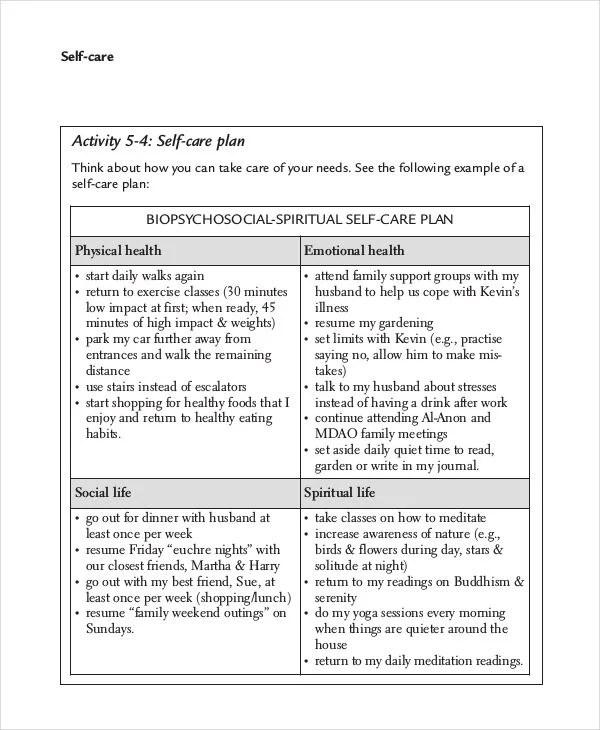 Care Plan Template 15 PDF Word Format Download Free Premium Templates