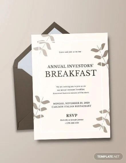 35 Wonderful Breakfast Invitation Templates Psd Ai