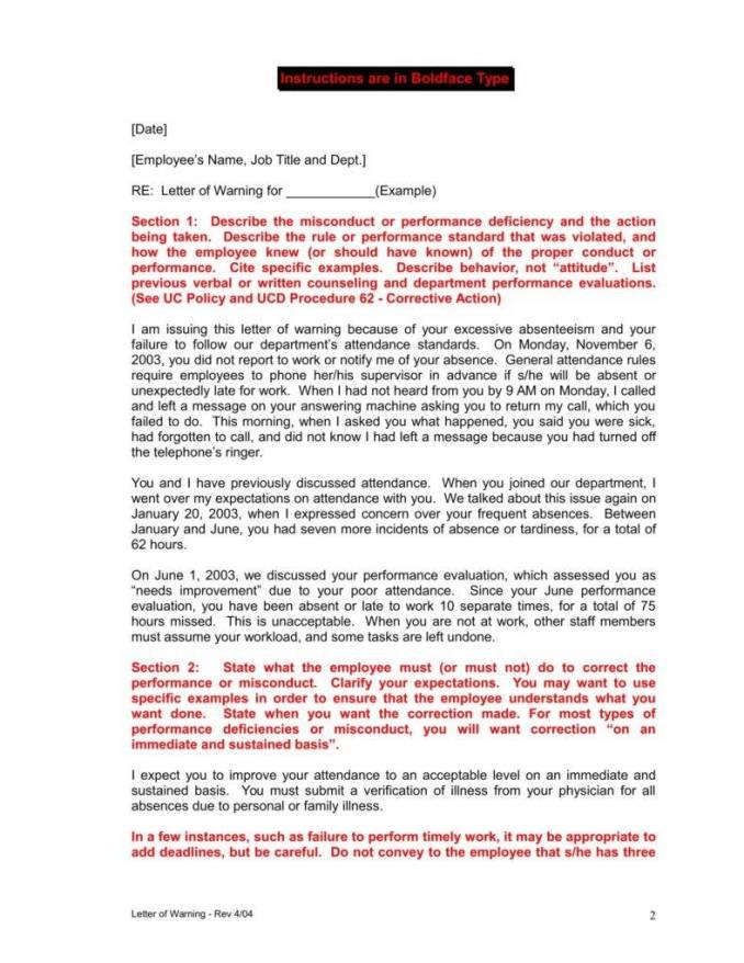 final warning letter for poor performance. mobileoptimizepro hr ...