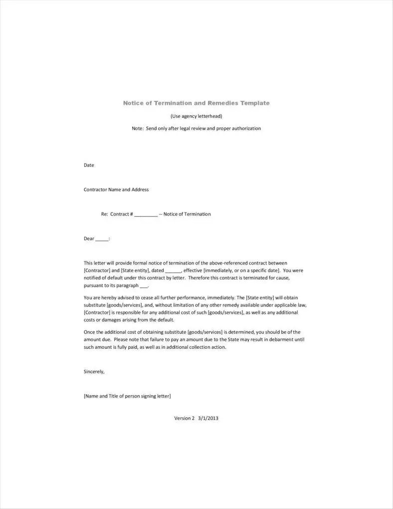 20 Agreement Termination Letters Free Word PDF Excel Format Download Free Amp Premium Templates
