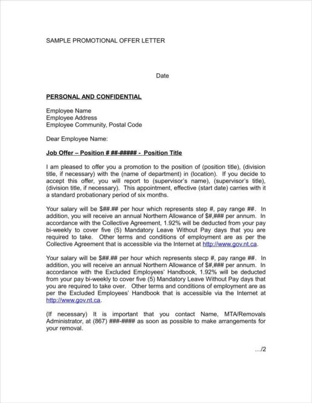 Promotion Announcement Letter Example | Visorgede.co