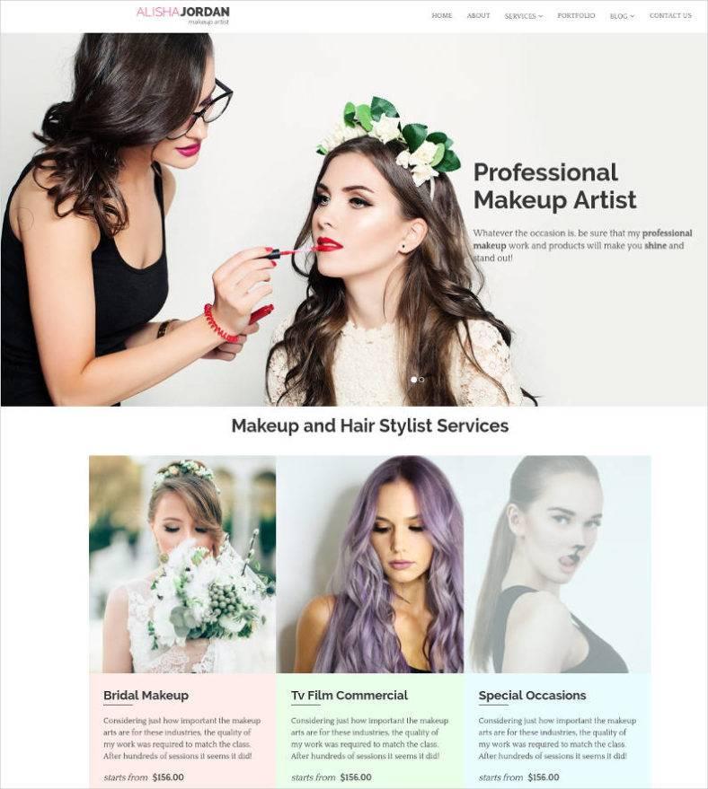 makeup artist websites templates - Kubre.euforic.co
