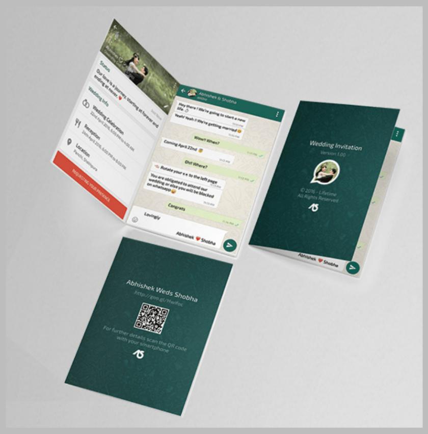 Whatsapp Themed Wedding Invitation Card