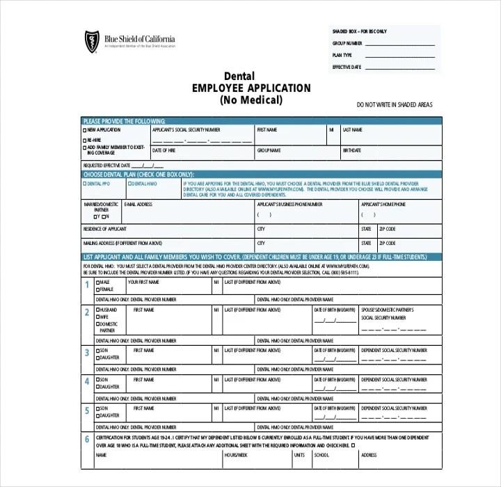 9 Employee Application Forms Templates Pdf Doc Free