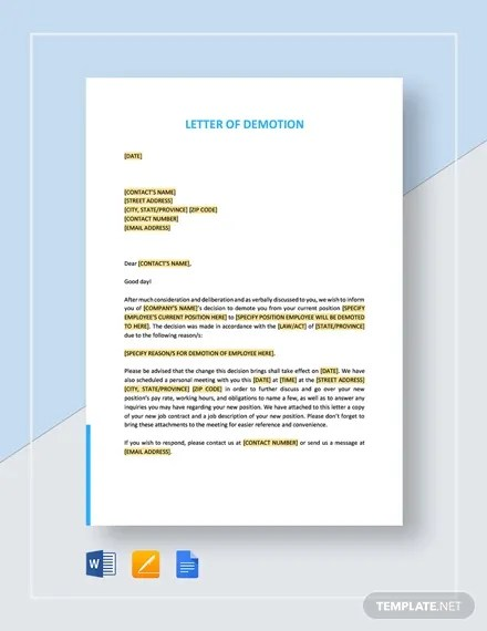 3 How To Write A Demotion Letters