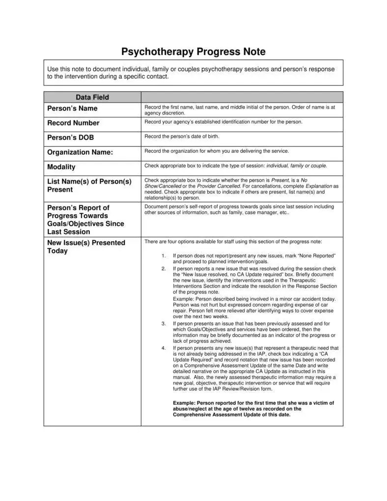 8 Psychotherapy Note Templates For Good Record Keeping PDF Free Premium Templates
