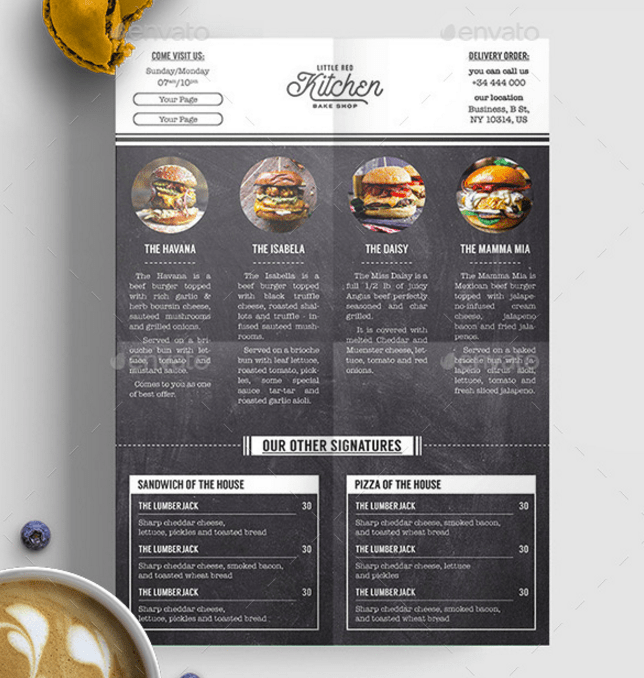 15 Burger Menu Designs Amp Templates PSD InDesign Illustrator Free Amp Premium Templates