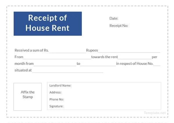 9 Landlord Rent Receipt Templates Pdf Free Premium