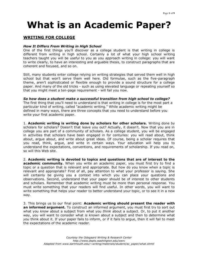 academic paper format pdf