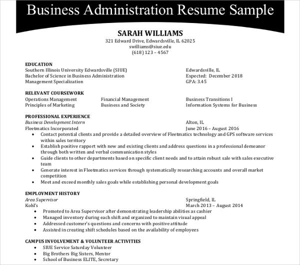 44 Administration Resume Templates PDF DOC Free Amp Premium Templates