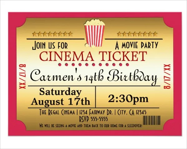 cinema invitation designs templates
