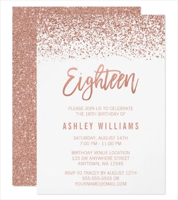 7 18th birthday invitation designs