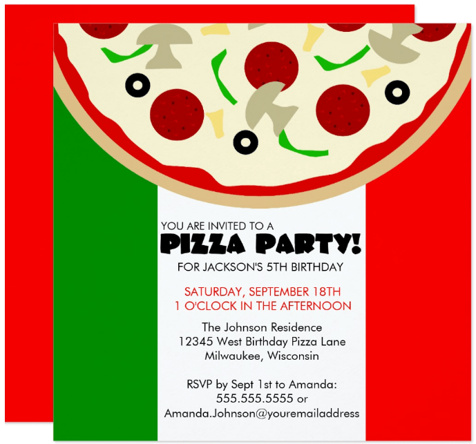 15 Pizza Party Invitation Designs Templates Psd Ai