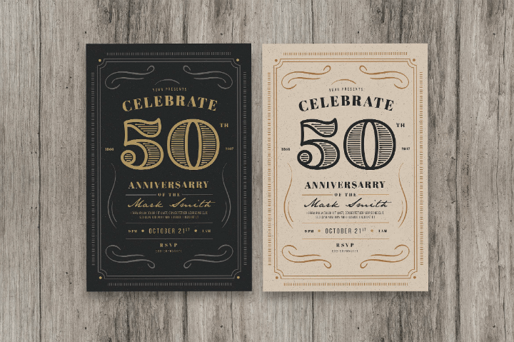 60th Wedding Anniversary Invitation Templates