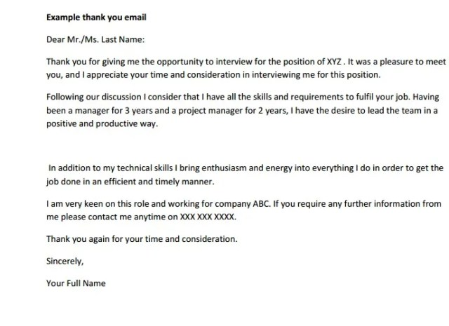 Interview Follow Up Letter Templates