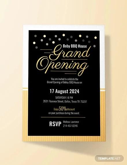 Opening Invitation Templates Psd Ai