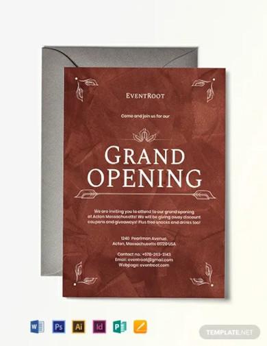 20 grand opening invitation designs