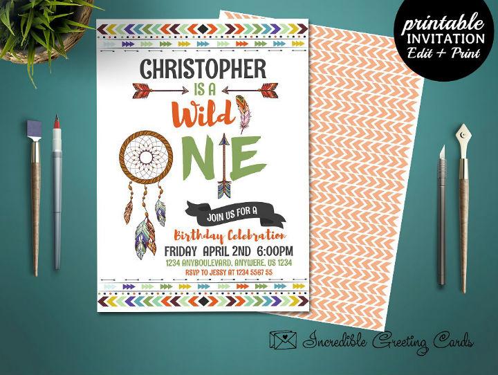 5 boy birthday invitation designs