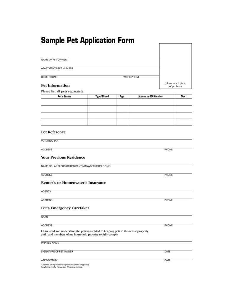 9 Puppy Application Form Templates Pdf Doc Free