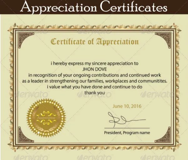 12 Certificate Of Appreciation For Student Templates Word PSD AI InDesign Free Amp Premium